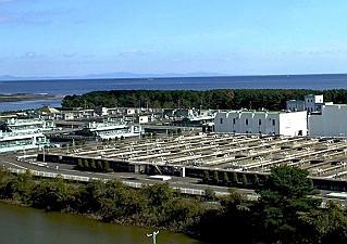 震災前の南蒲生浄化センター