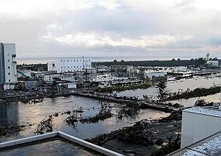 震災翌日の南蒲生浄化センター